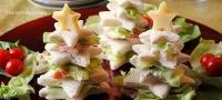 Солени мини сендвичи во облик на елка, готови за 1 минута