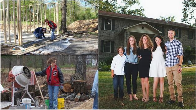 Самохрана мајка на 4 деца изградила куќа со помош на YouTube туторијали