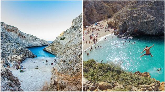 Најубавата скриена плажа на Крит