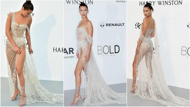 Нов ден   нова шанса за Бела Хадид да се разголи во фустан од кристали