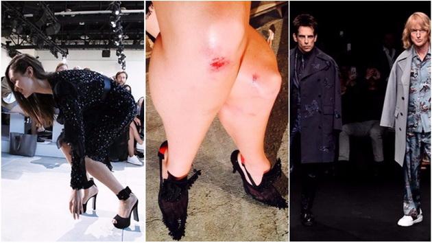 Џиџи остана без штикла  Бела падна  Неочекувани ситуации на модните недели