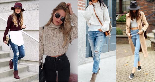 Есенски тренд  Комбинации со кратки џемперчиња