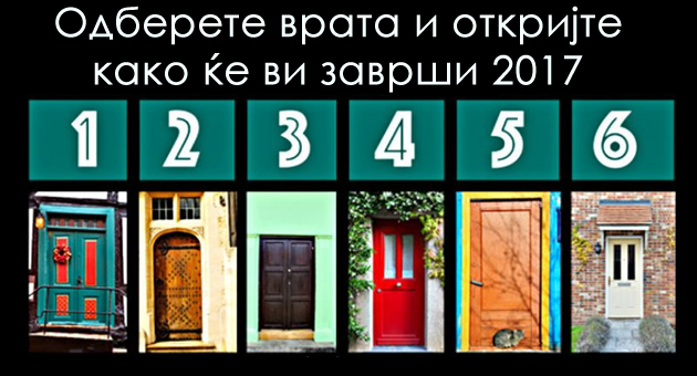 Одберете врата и откријте како ќе ви заврши 2017 та