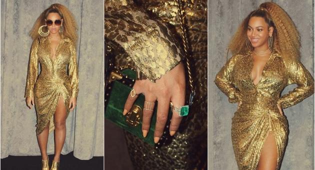 Празничен моден погодок или утка: Бијонсе во разголен златен фустан