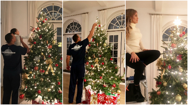 Семејно украсување: Џеј Ло и Алекс Родригез со децата се подготвуваат за првиот заеднички Божиќ