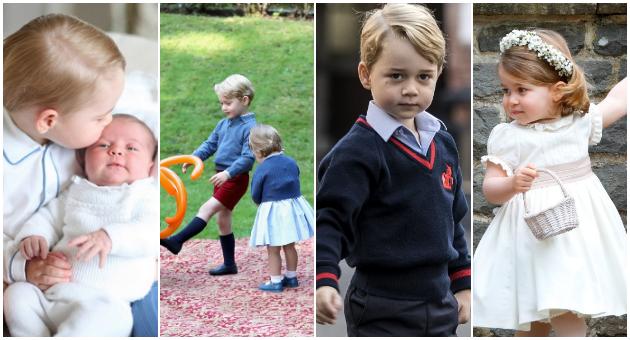 Шарлот се грижи за Џорџ  а тој не знае дека ќе биде крал  11 факти за најпопуларните кралски деца