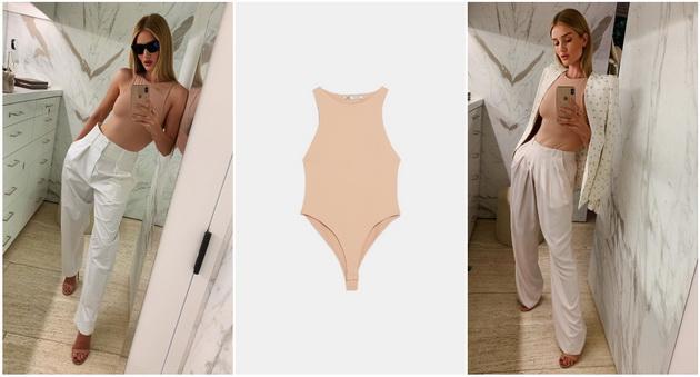 Роузи Хантингтон Вајтли прави луксузни комбинации со Zara боди од 800 денари