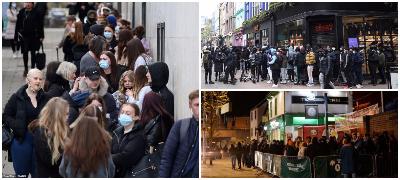 """Британците нетрпеливи за трошење пари: Толпи и инциденти пред трговските центри по олеснувањето на """"локдаунот"""""""