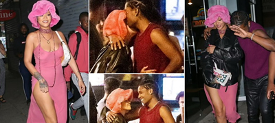 Повљубени од кога било: Ријана на состанок со дечкото, во розов фустан без градник (фото)