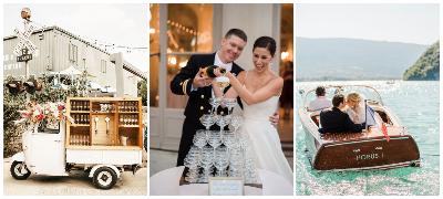 Кула од шампањ, уникатен транспорт – Топ 8 трендови за летни свадби 2021 (фото)