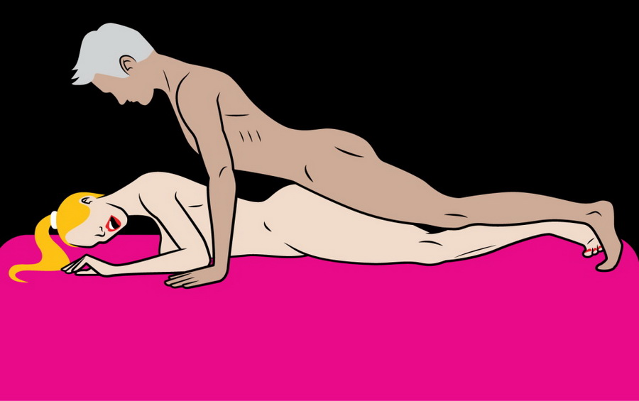 This is the best sex position for when you've had too much to eat and it's ideal for lazy girls