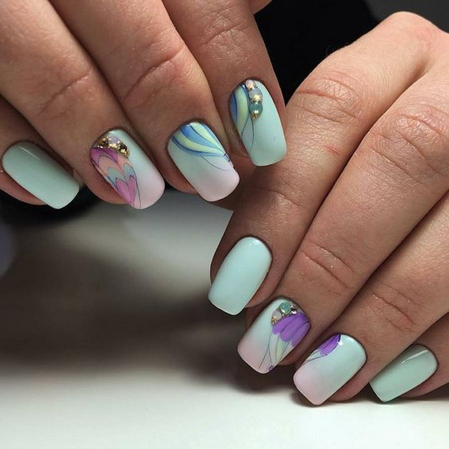 Весенний маникюр, дизайн ногтей 2021 (174 фото-новинки)